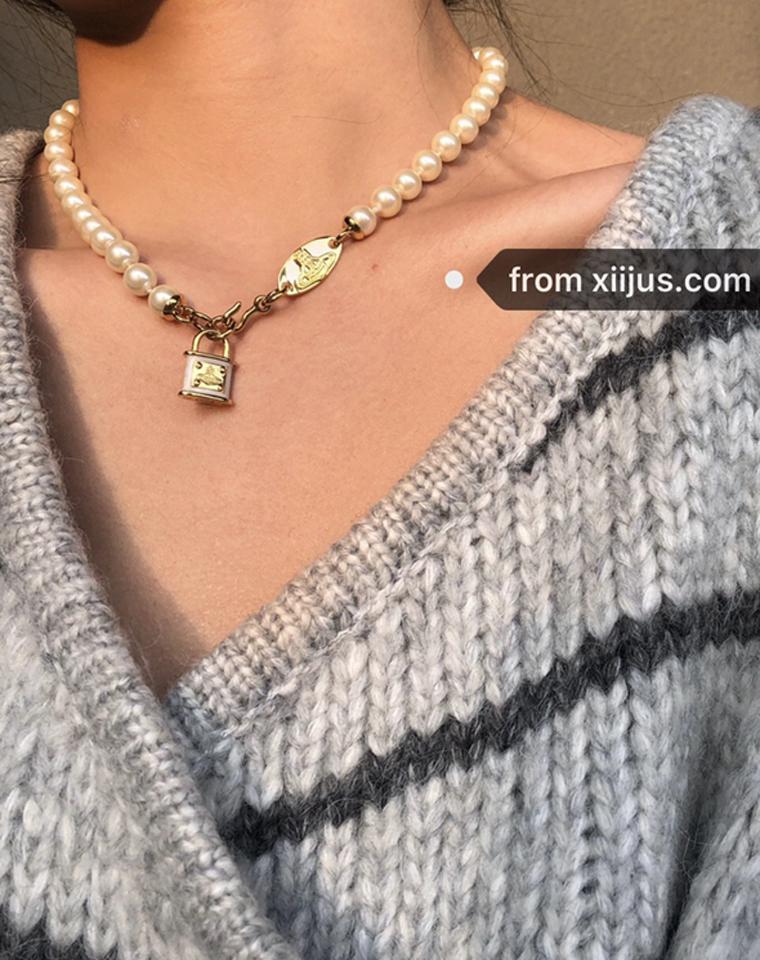 宝藏项链,美爆了这条!仅138元!!西太后锁头珍珠项链 温柔复古感