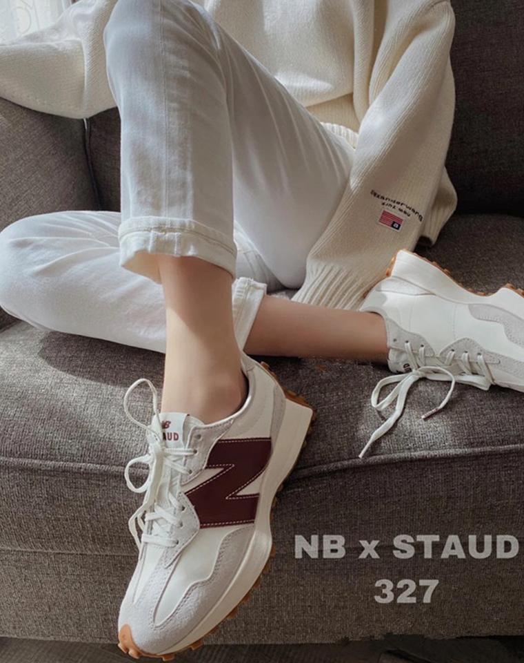 上脚巨好看 谁也逃不过的真香 男女款  仅228元  NB X Staud联名款327 隐形增高运动鞋
