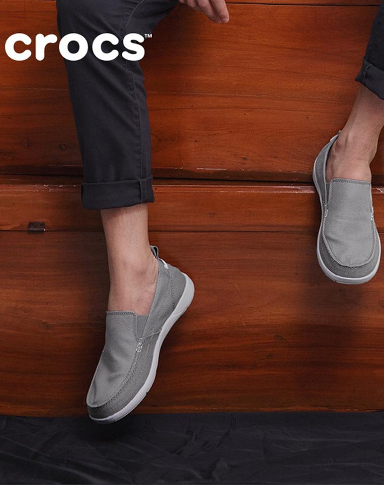 父亲节给孩儿爸  给老爸  仅128元  Crocs卡骆驰最新沃尔卢系列  2021最新赤足鞋 休闲帆布鞋