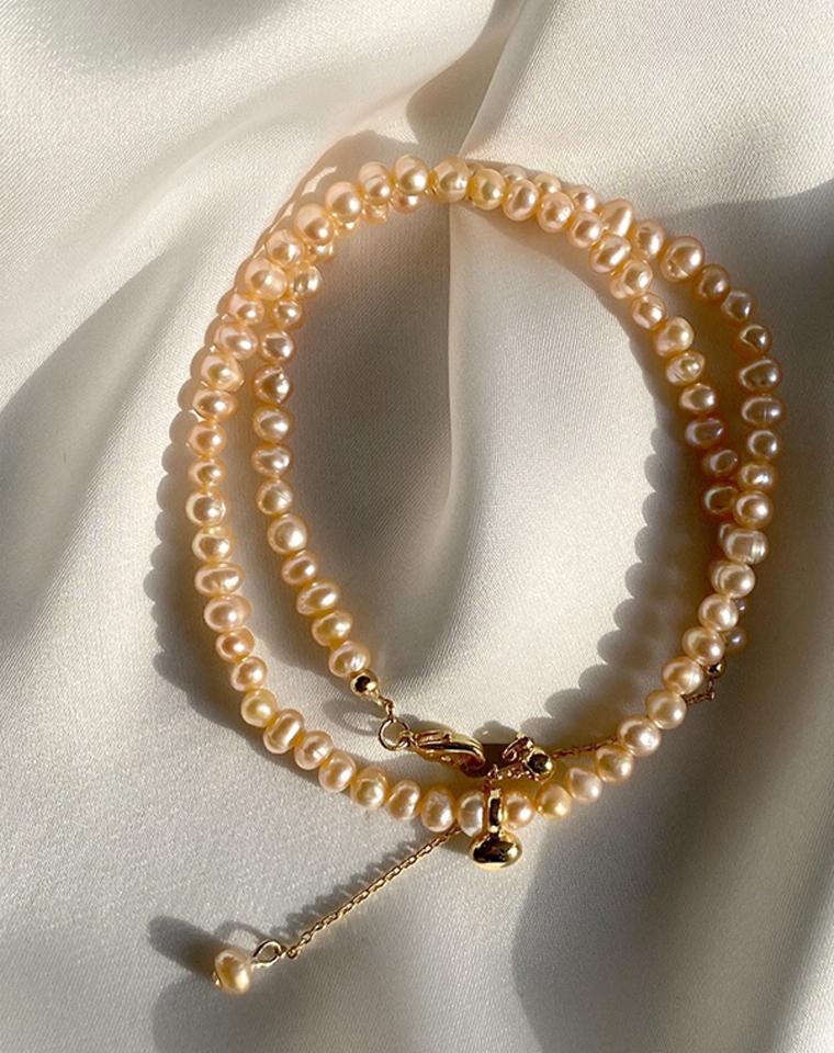 天然异型珍珠!天然哒!仅148元  Celine赛琳vintage异型珍珠项链