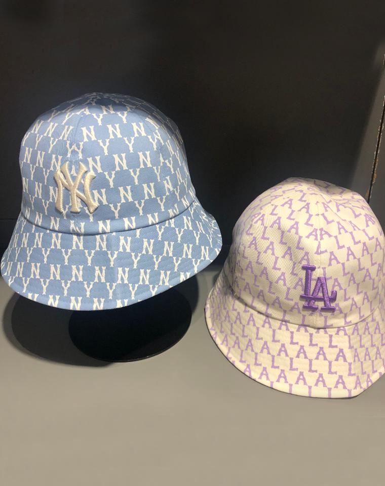 21年新配色! 品质渔夫帽 仅59元 MLB纯正原单 NY洋基队 满印渔夫遮阳帽