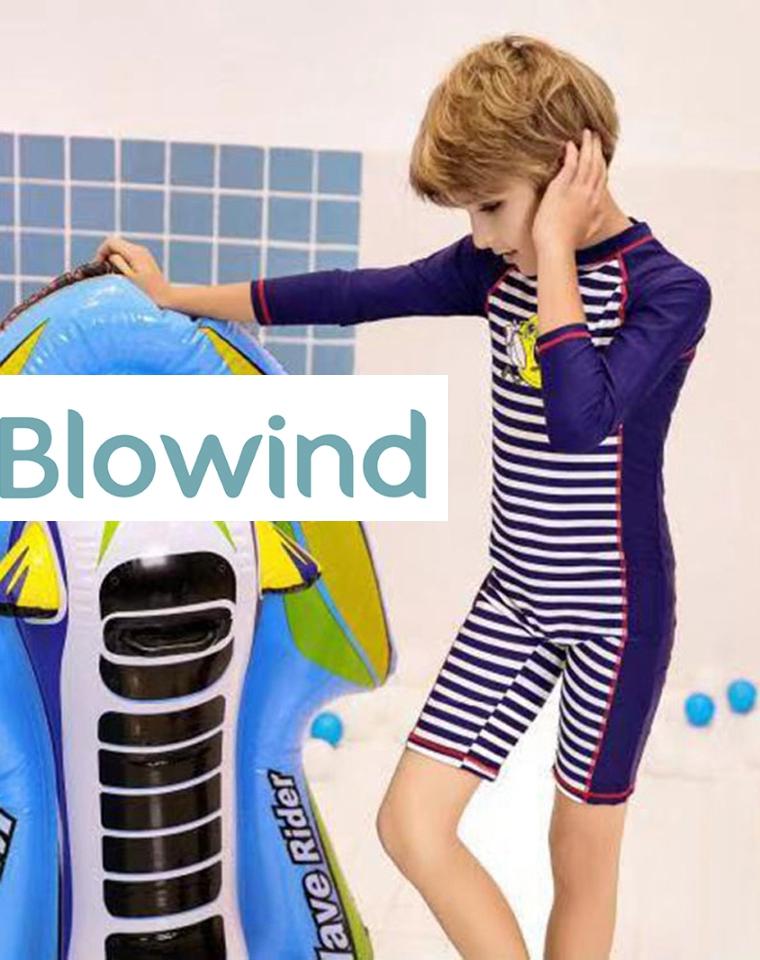 专业防晒  亲妈必收  仅49元 专业儿童泳衣品牌BLOWIND  连体泳衣