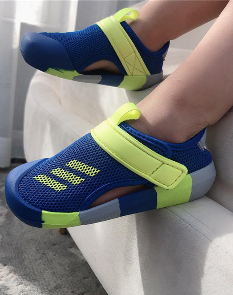 越南产!经典升级 亲妈必收  仅99元!专柜同步最新配色 Adidas Sandal Fun C儿童包头凉鞋