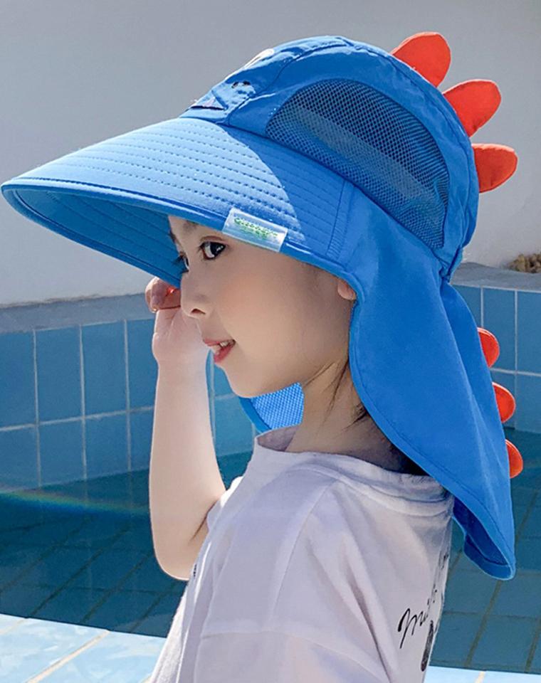 最放心的防晒帽 没有之一 堪比遮阳伞 亲妈必收   仅34.8元  日本订单  卡通造型 带防晒披肩 魔术调节UV防晒帽  檐遮阳帽