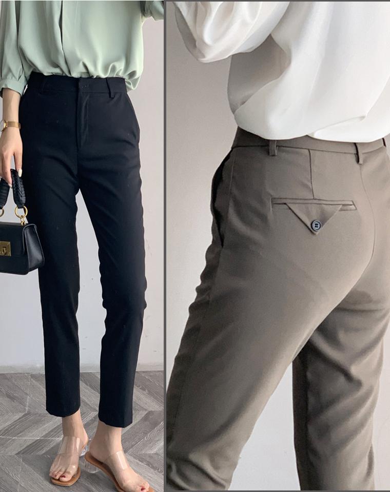 完全不显小肚子  仅108元  MAXCO纯正原单  夏款三色九分西装裤