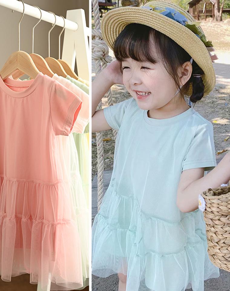 小小公主裙 亲妈必收 仅55元 超美儿童短袖连衣裙 柔软纳米亲水棉 女童短袖蓬蓬连衣裙