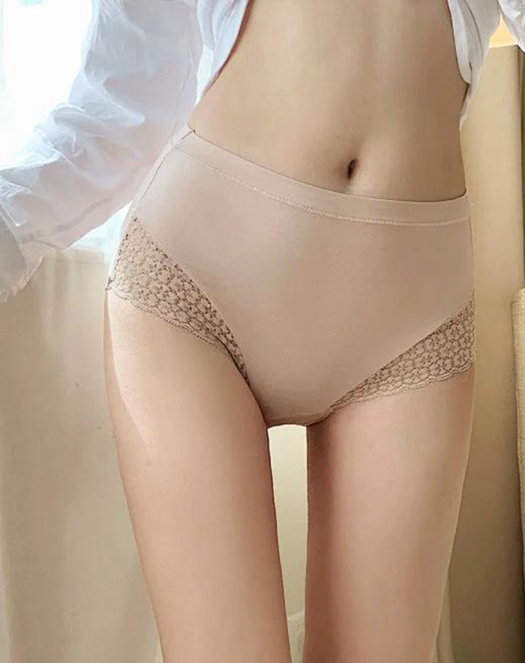 清仓回馈! 全包臀设计 舒适高腰  仅14.8元   细腻Q弹好手感  蕾丝边内裤,透气棉质裆,全包臀女内裤