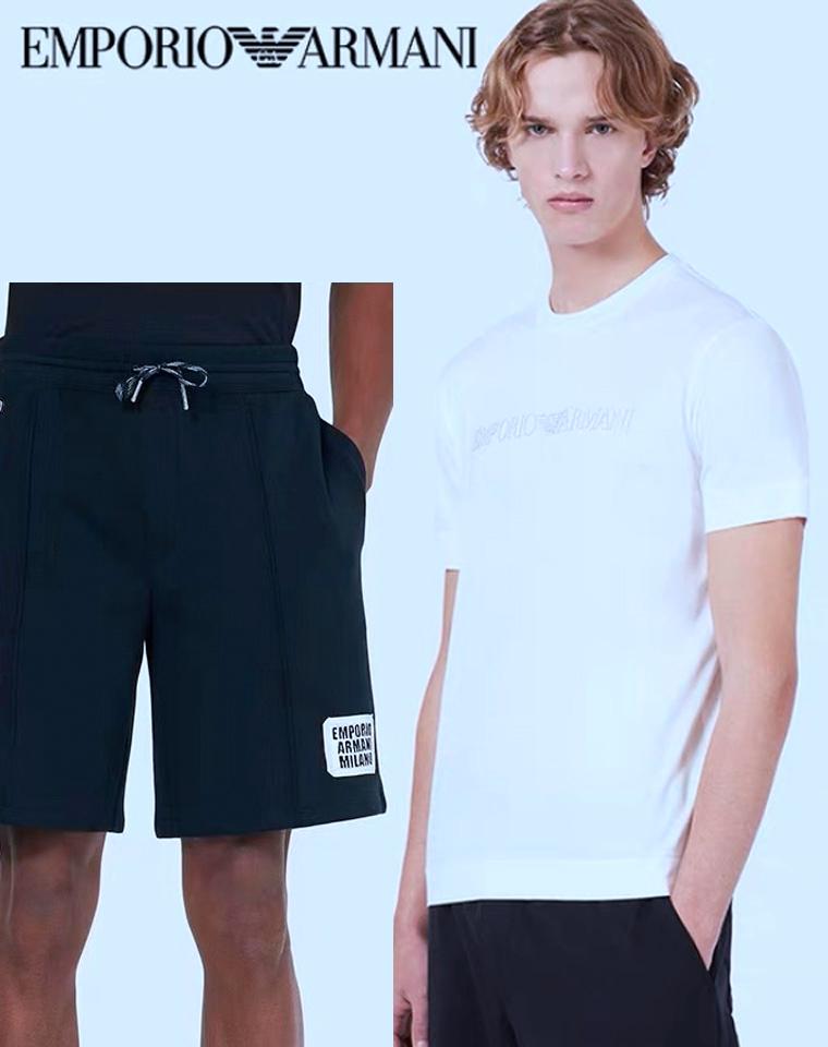 给纯爷们的硬核好货!!仅169元  EMPORIO ARMANI 阿玛尼纯正原单  AJ巨超值 男士短袖短裤套装