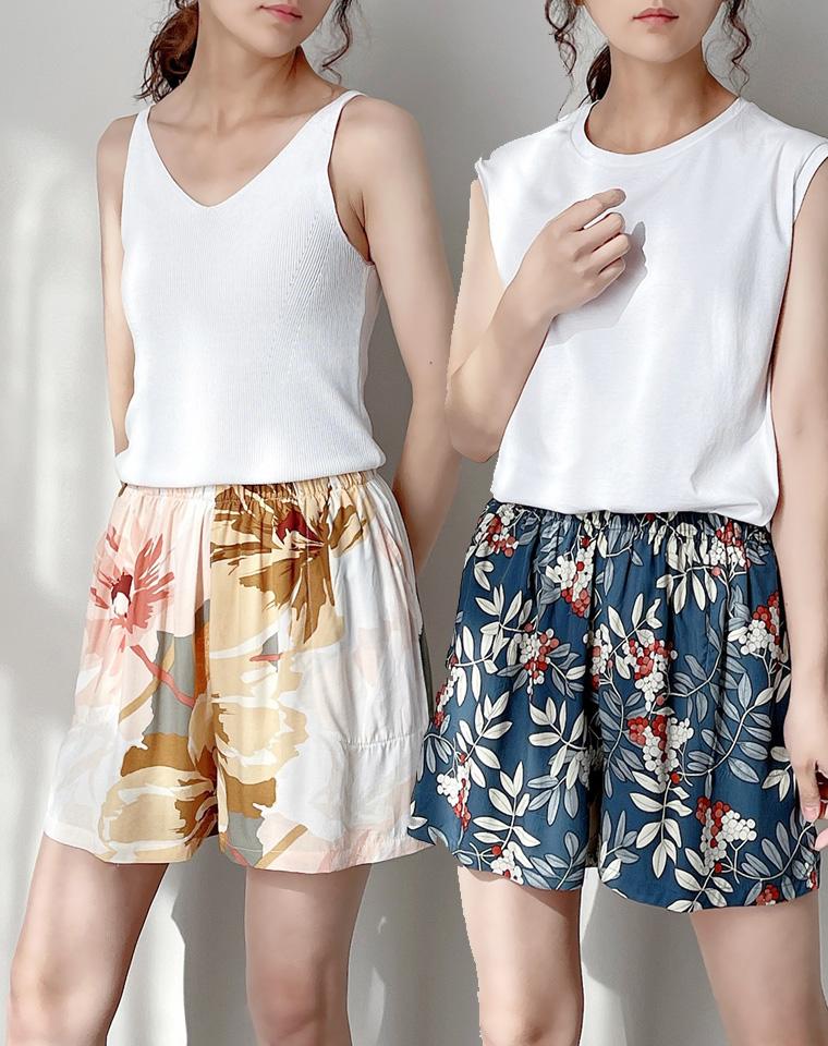 夏天离不了的裙式短裤  仅34.9元  凉爽舒适 女士人棉裙式短裤 柔顺垂坠