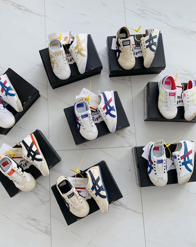 最新配色 亲妈必收  仅148元 Onitsuka Tiger纯正原单 鬼冢虎童鞋 懒人鞋 常规两款