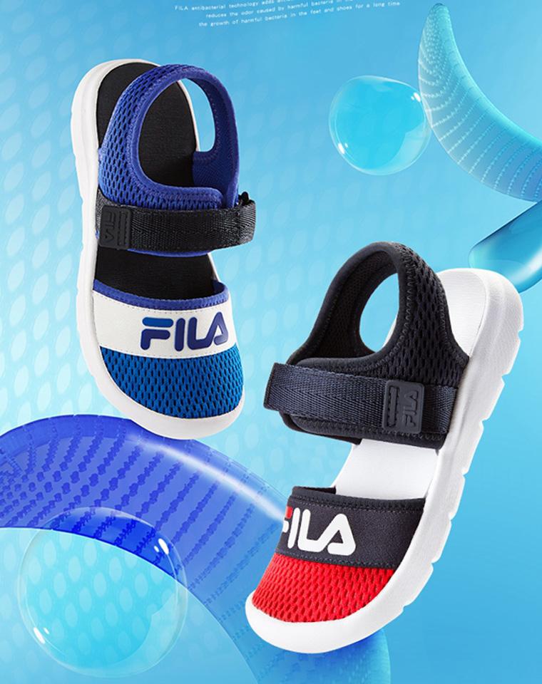 超值捡漏  亲妈必收 仅85元 FILA斐乐纯正原单 速干鞋面男女童沙滩鞋  包头凉鞋