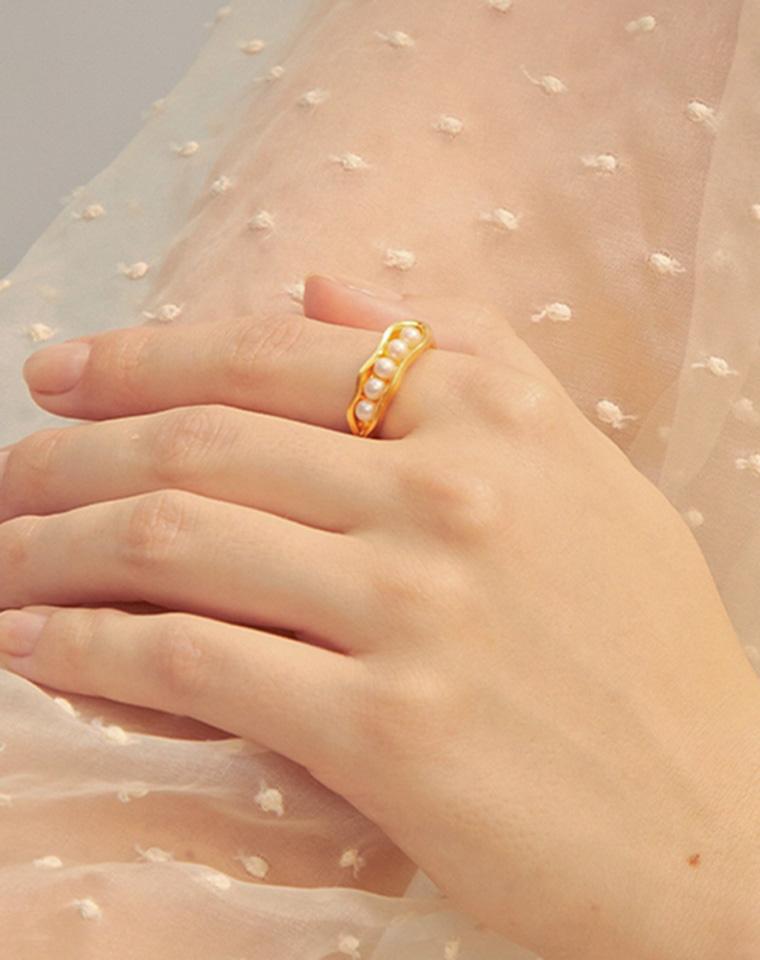 七夕好礼!!天然珍珠!天然哒!仅118元 128元 美国红牌TORYBURCH托里伯奇   珍珠项链 戒指