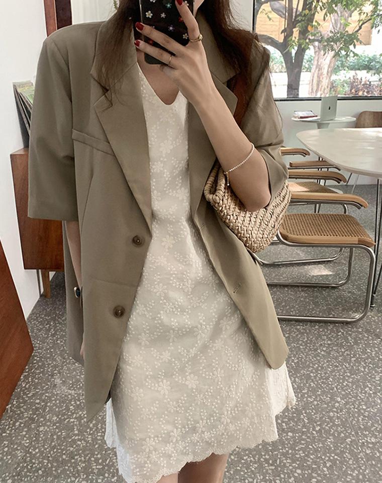INS简约风   太FASHION!短袖西装  仅148元  微廓形  薄款气质短袖西装