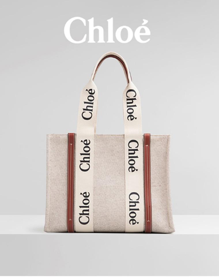 大方走专柜 品质超夯 仅158元 Chloe大容量字母帆布包
