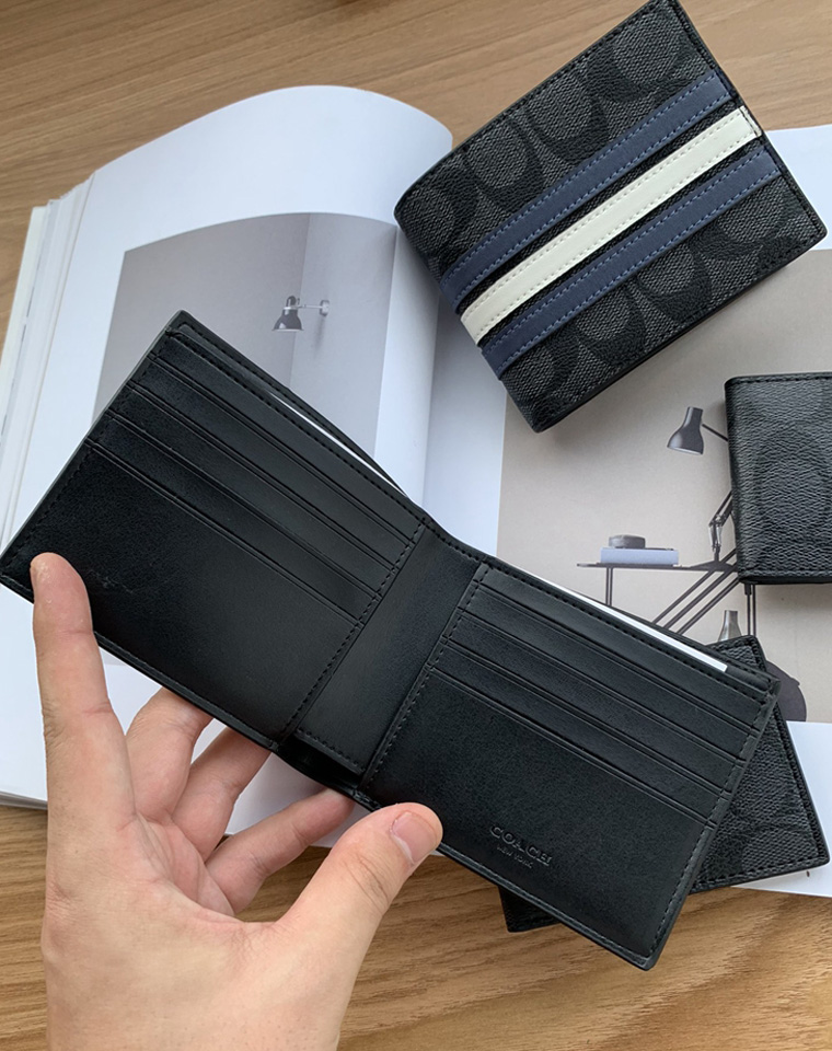 给纯爷们の硬核!仅98元  COACH纯正原单  短款钱夹卡包两件套
