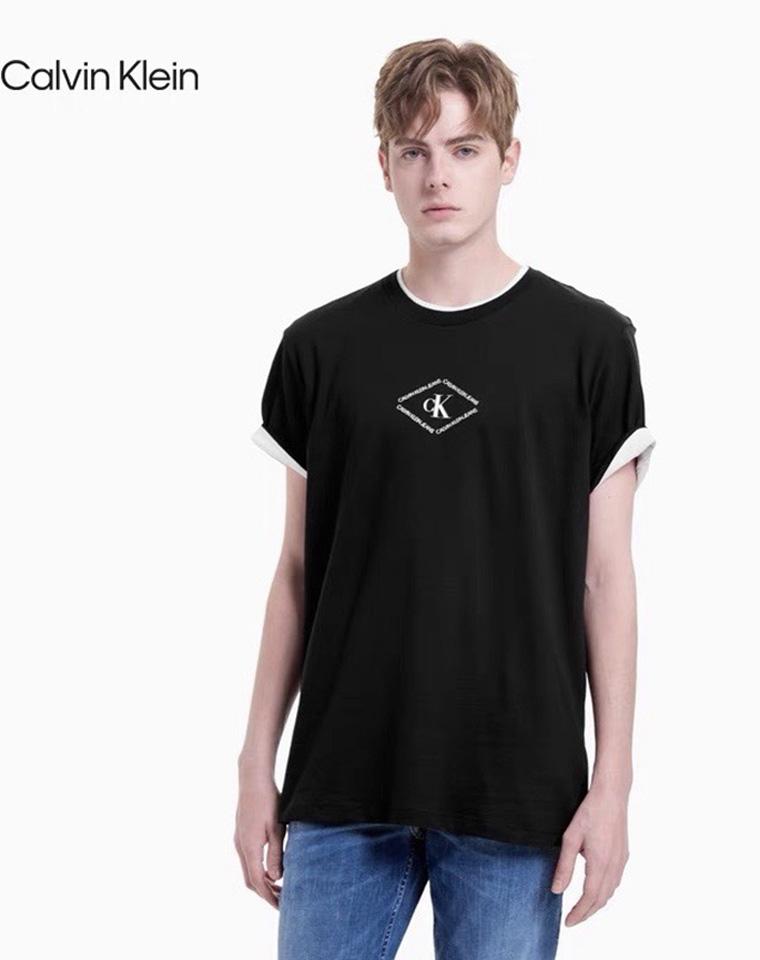 给纯爷们的精品福利  仅69元 美国CALVIN KLEIN纯正原单  菱形印花短袖 T恤