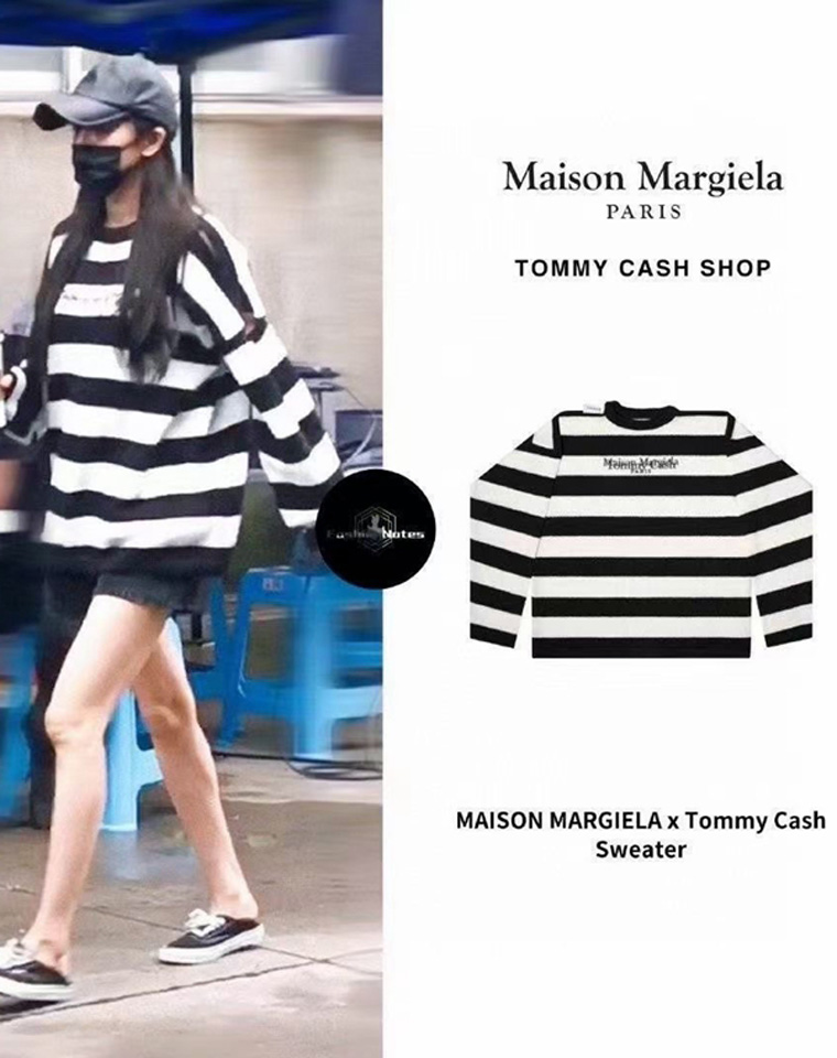对色对缝  超洋气廓形  仅178元   Tommy Cash联名纯正原单 廓形黑白条纹羊毛针织衫