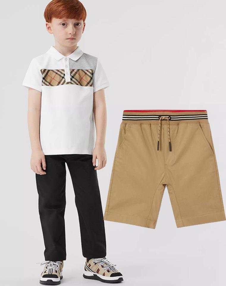 童夏装压轴收官之作  仅69元  英伦BURBERRY纯正原单  童短袖POLO衫 短裤 可配套装