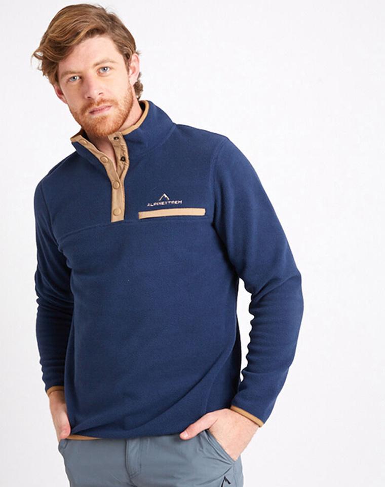 给纯爷们の好货  轻量柔软保暖透气 仅78元  智利ALPINEXEREM纯正原单    立领抓绒衣 运动套头衫