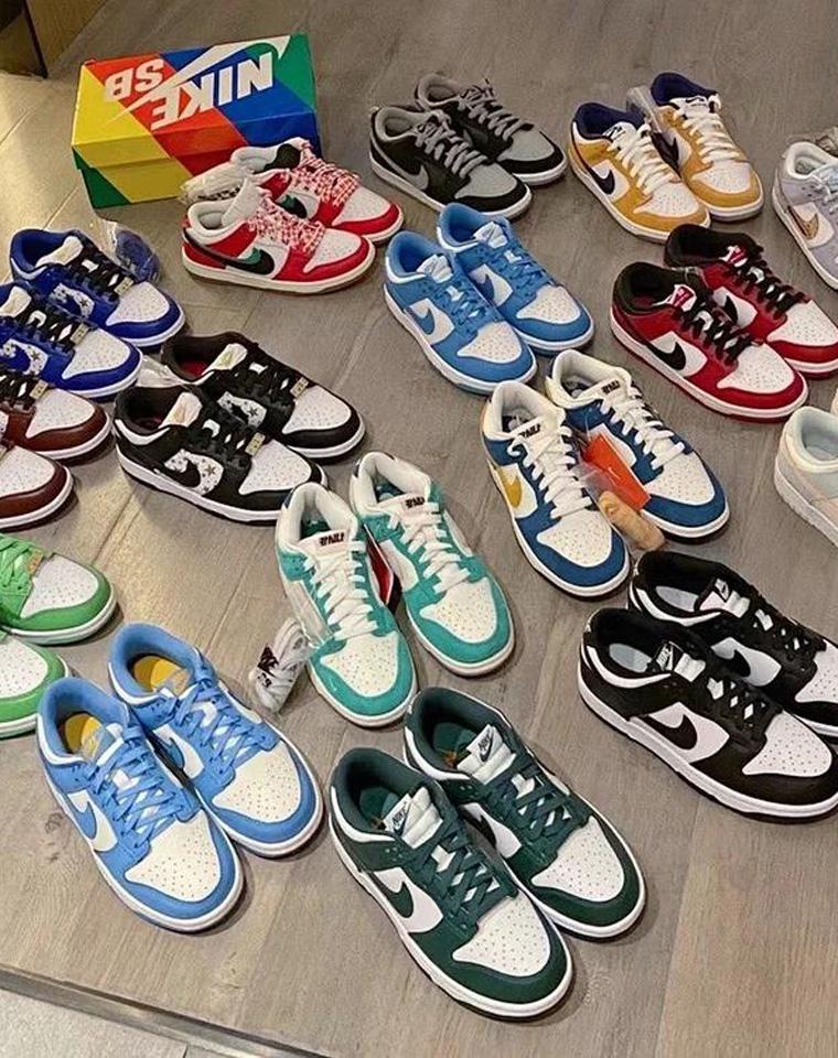 一双DUNK 搭配你的所有 男女款板鞋  史上最全16色 仅268元  348元   Dunk x SB撞色拼接设计大钩子 低帮运动鞋