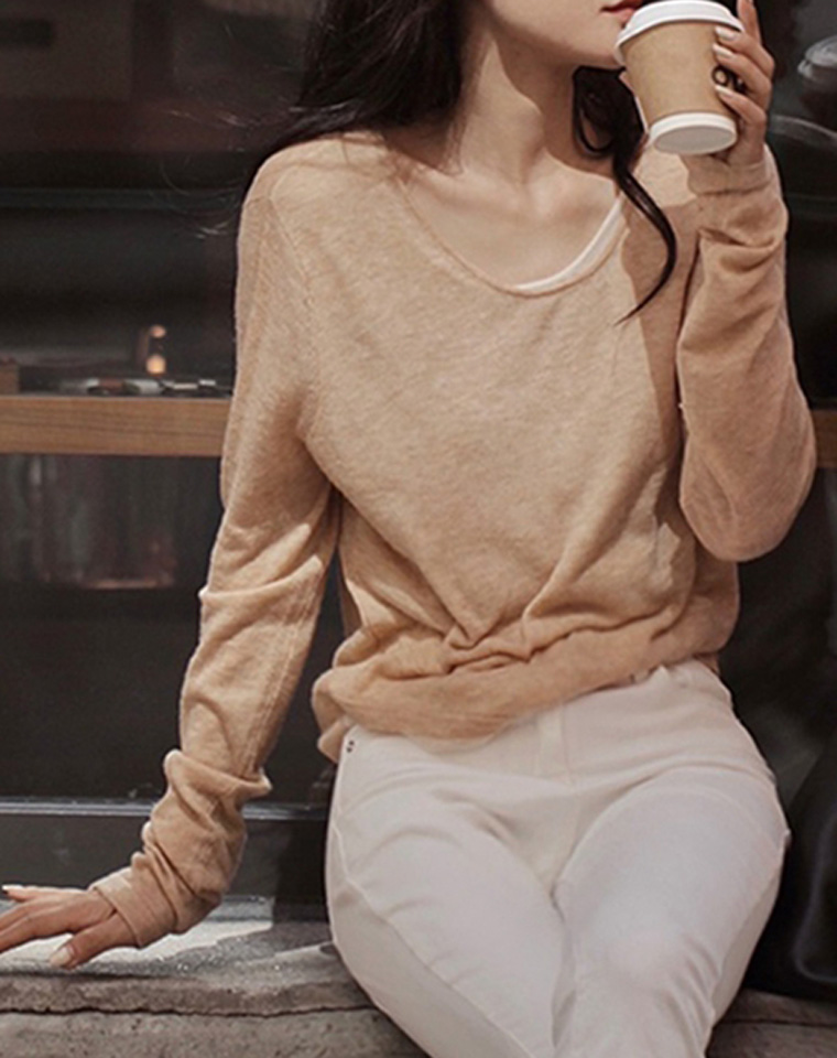 简约出彩!仅89元 海外版Max假两件设计  针织套衫 温柔3色