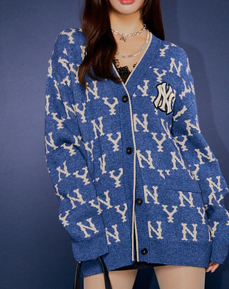 外搭神器!洋气得不像话!男女款 仅168元  NY洋基队纯正原单 满印设计 羊毛混纺  针织大开衫
