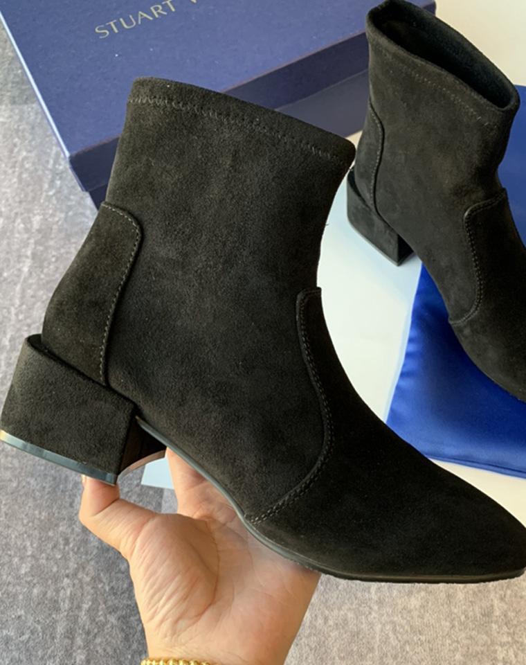 尖叫爆品   仅198元  美国STUART WEITZMAN斯图尔特·韦茨曼   纯正原单  一双骨子里透出高级的短靴