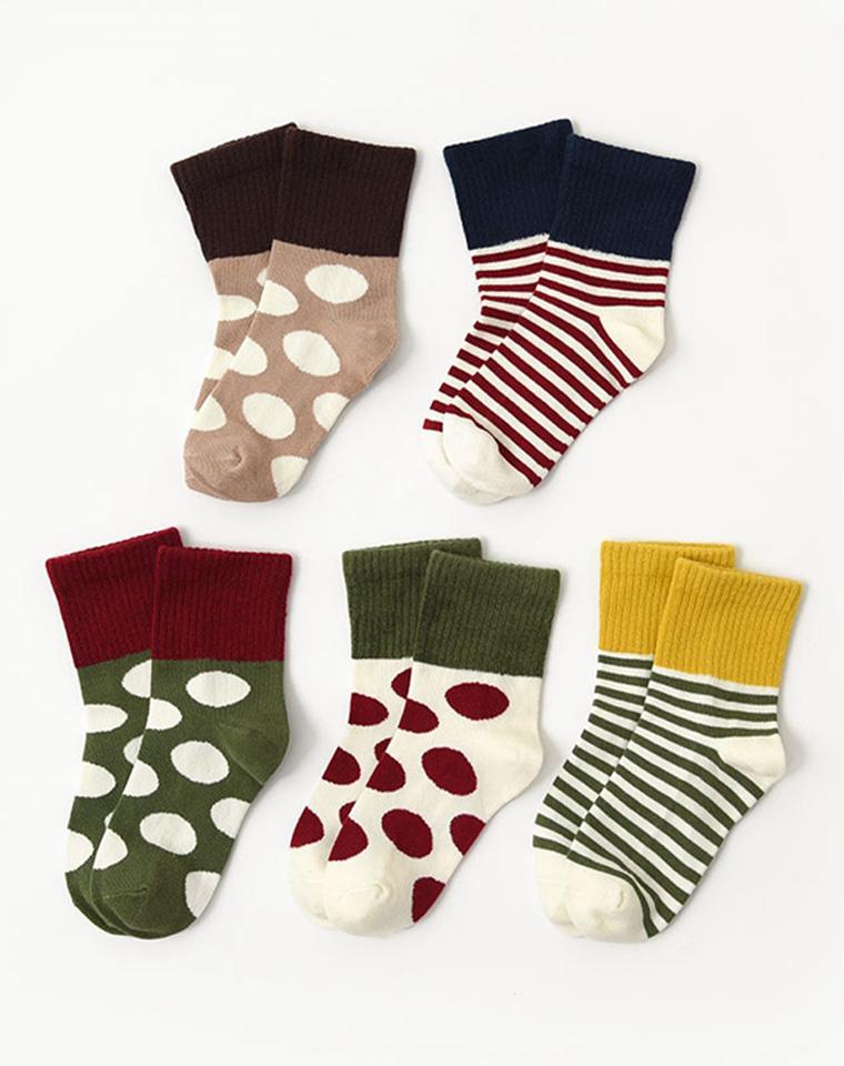 亲妈必收  男童女童  仅4.5元  新疆长绒棉  儿童拼色袜子中筒袜 秋季新款
